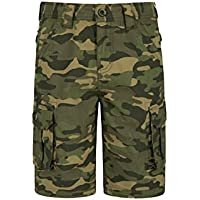 Mountain Warehouse Kids Camo Cargo Shorts - 100% Cotton Summer Shorts, Lightweight Short Trousers, Pockets, Easy Care Camo Pants - for Camping, Hiking & Travelling