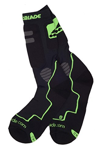 rollerblade-roller-fitness-chaussette-high-performance-socks-black-green-taille39-43