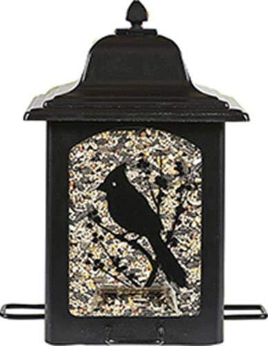 Perky-Pet Futterspender für Gartenvögel im Laternenstil - Vogelfuttersilo aus Metall mit 4 Futterplätzen / Füllkapzität 1,4 kg Vogelfutter / Mod. 363