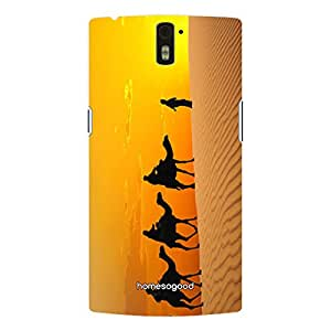 HomeSoGood Ship Of Egypt Yellow 3D Mobile Cover For One Plus One (Back Cover)