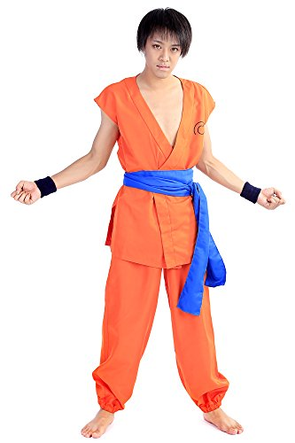 De-Cos DBZ DragonBall Z Cosplay Costume Kakarot Son Goku Training Uniform Set (Kostüme Dbz Halloween)