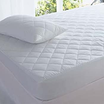 quilted mattress pad. Highliving Quilted Mattress Protector, Extra Deep, All Sizes (Small Double (122 × Pad L
