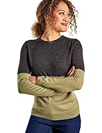 ffa7779d8f34 Wool Overs Pull col Rond Colour Block - Femme - Cachemire   Mérinos