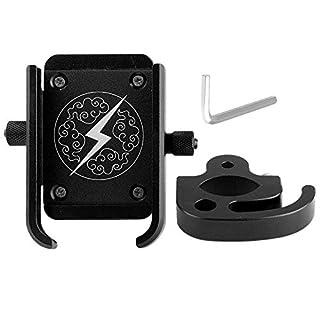 Tbest Universal Fahrrad Handyhalter Universal Metall Motorrad Fahrrad Lenker Handyhalter Fahrrad Telefonhalterung GPS Halterung Ständer Rack für 4-6.5in Handy(Schwarz)