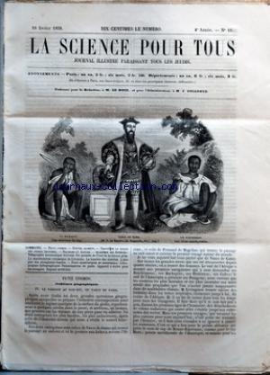 SCIENCE POUR TOUS (LA) [No 10] du 10/02/1859 - PETIT COSMOS - NOUVEL ALIMENT - TRAITE DE LA TAILLE DES ARBRES FRUITIERS - DALIBARD ET AMPERE - ACADEMIE DES SCIENCES - TELEGRAPHIE AUTOMATIQUE ECRIVANT - UN PARASITE DE L'+ÑUF DE LA LIMACE GRISE - LA MANIFESTATION VOLCANIQUE DE LIVOURNE - LA LUMIERE DES COMETES - L'EMPLOI DES PHOSPHATES FOSSILES - FAITS SCIENTIFIQUES ET INDUSTRIELS - LITHOGRAPHIE HELIOGRAPHIQUE - PARATONNERRES EN PAILLE - APPAREIL A ECRIRE POUR LES AVEUGLES - ENG