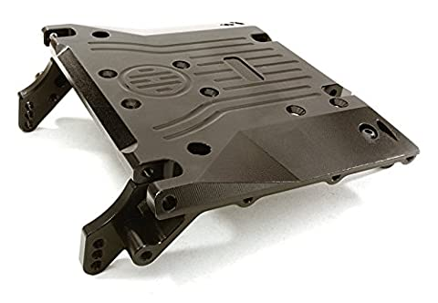 Integy RC Model Hop-ups OBM-1302BLACK CNC Machined Alloy Center Skid Plate for Axial 1/10 RR10 Bomber