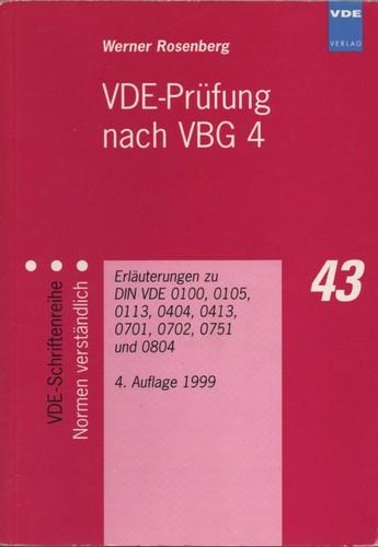 VDE-Prüfung nach VBG 4