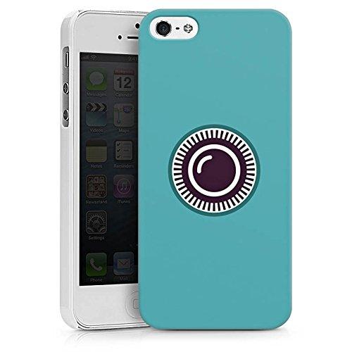 Apple iPhone X Silikon Hülle Case Schutzhülle Kamera Auge Symbol Hard Case weiß