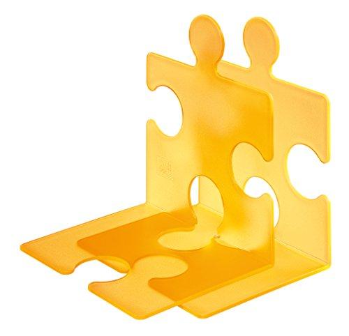 Han 9212-71 - Estantería de soporte de libros y CD diseño de Puzzle, color naranja (2 piezas)