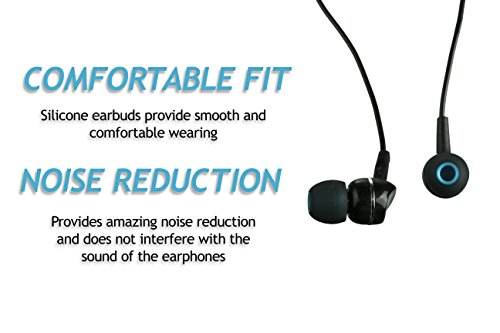 XCESSOR (S) 7 Paar (14 Stück) Silikon-Ersatz-Ohrhörer Klein Größe Ersatz-Ohrstöpsel für Beliebte in-Ear-Kopfhörer. Schwarz/Blau - 3