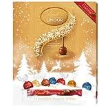 Lindt Lindor Calendrier de l Avent Lait Blissful/Blanc/ Suisse Truffes Chocolate 300g - Compte à rebours amusant jusqu'à Noël