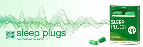 Get Plugged Sleep Plugs. 3 Paar Ohrstöpsel zum Schlafen, Ausruhen, zu studieren. Sehr hohen Dämpfungsfaktor für ein höchstmaß an Ruhe. Gehörschutzstöpsel schaum. - 3