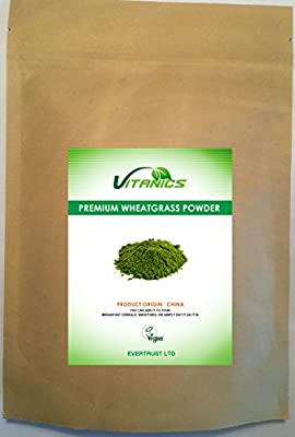 Premium Wheatgrass Powder 1kg (4 x 250g) by Vitanics