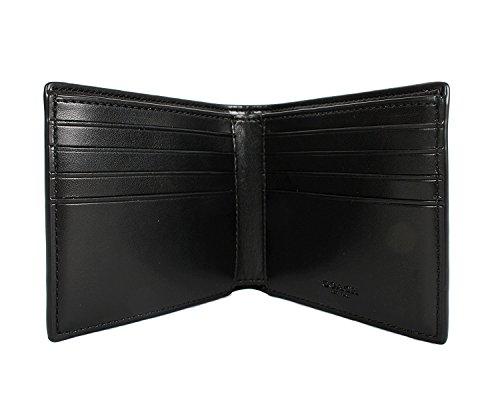 Coach Mens Double Bill Signature PVC Wallet F75083