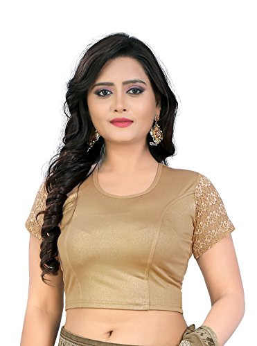 CDPL Express Women's Golden Stretchable Designer Shimmer Stitched Readymade Free Size Blouse