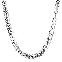 Idea Regalo - PROSTEEL Collana Catena Cubana Lunghezza 60 cm Larghezza 8 MM Argento Acciaio Inossidabile