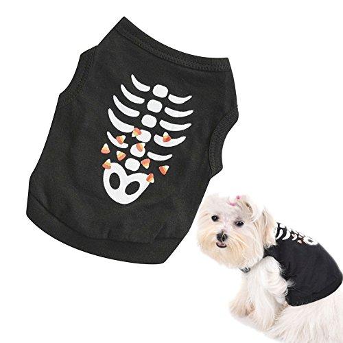 huuation Pet Hund Kleidung Haustier Hund Katze T-Shirt Puppy T-Shirt Kostüme Kleidung für kleine Hunde/Welpen/Teddy Pudel (Kostüme Welpen Verspielt)
