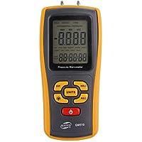 Manomètre mesureur pression avec affichage LCD - Couleur jaune