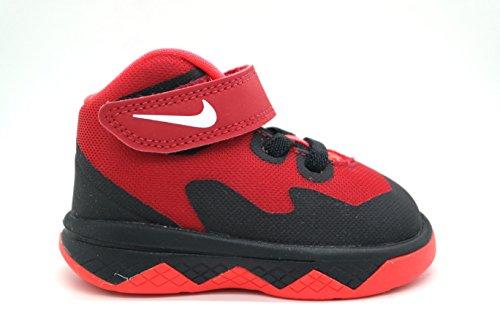 Nike Zoom Soldier VIII (td) Lettino scarpe da basket 653647 400, 4 BLACK/WHITE-GYM RED-BRIGHT CRIMSON