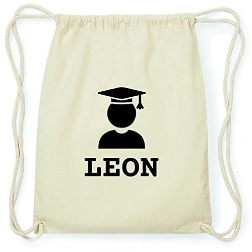 JOllify Turnbeutel Abschluss Geschenk für Leon - Absolventin - Absolvent