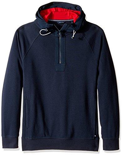 nautica-herren-sweatshirt-1-2-zip-pullover-slim-fit-true-navy-m