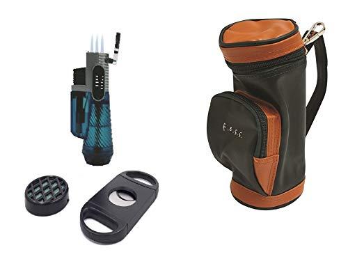 F.e.s.s. FESS Golf Geschenk Set Mini Golf Tasche Humidor mit Luftbefeuchter und Cutter -