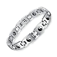 AnazoZ Fashion Jewelry Fashion Health Bracelets For Men Stainless Steel Watch Bracelet With Magnetic Simple Personality