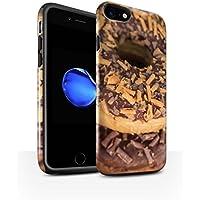 STUFF4 Lucidare Antiurto Custodia/Cover/Caso/Cassa del Telefono per Apple iPhone 7 / Caramella Mou / Gustose (Finiture In Pelle Caramella)