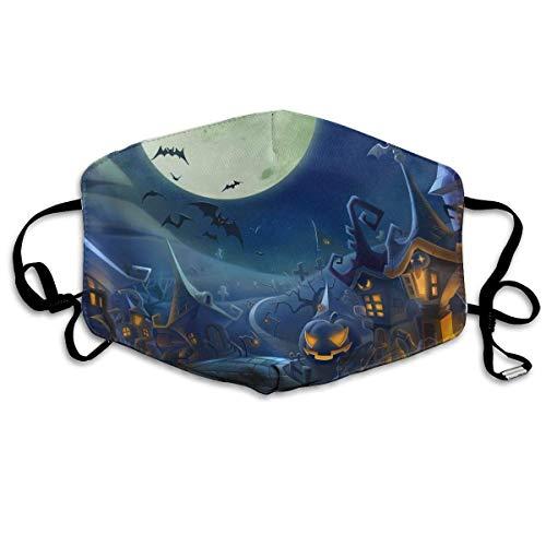 Vbnbvn Unisex Mundmaske,Wiederverwendbar Anti Staub Schutzhülle,Gesichtsmaske Halloween Batsbackground Anti Pollution Washable Reusable Mouth Masks (Mensch-katze-gesicht Für Halloween)