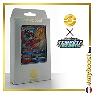 Brazégali-GX (Blaziken-GX) 28/168 - #myboost X Soleil & Lune 7 Tempête Céleste - Box de 10 Cartas Pokémon Francés
