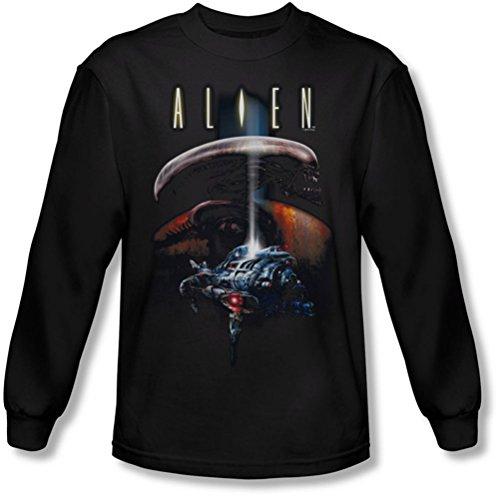 Alien - Männer Planet Longsleeve T-Shirt Black