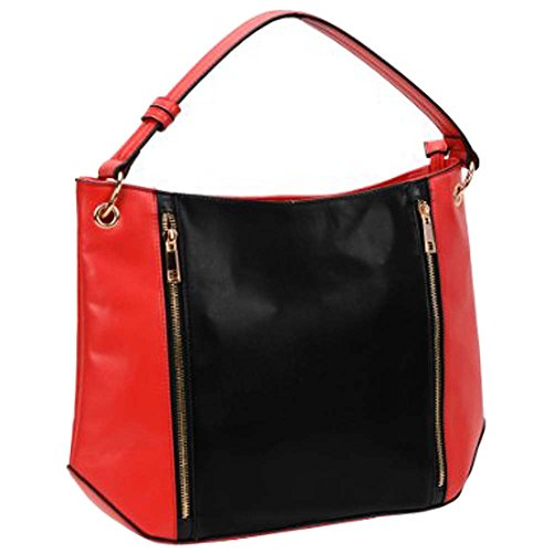 fash-dual-color-block-womens-hobo-handbag-black