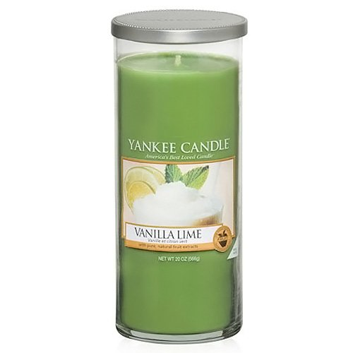 Yankee Candle Pillar Candele Décor Vanilla Lime,