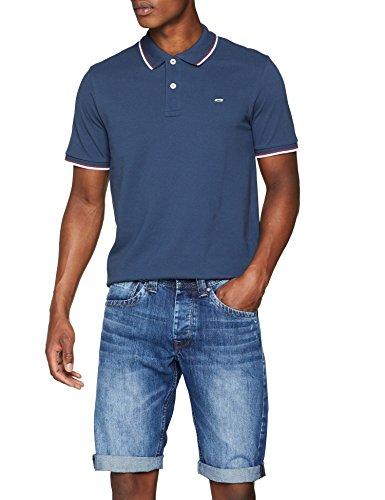 JACK & JONES Herren Poloshirt JJECONTRAST Stripe Polo SS NOOS, Blau (Insignia Blue Detail: Slim Fit), Small
