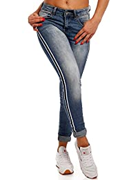 Damen Slim-Fit Jeans mit Seitenstreifen