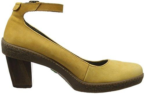 El Naturalista Nf76 Pleasant Lichen, Chaussures avec Bride à la Cheville Femme Jaune (Curry)