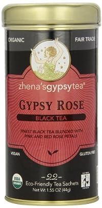 Zhena's Gypsy Tea, Gypsy Rose, 22 Count Tea Sachet, 1.55oz