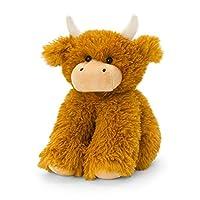 Keel Toys SL2452 Soft Toy Shaggy Highland Cow, Brown