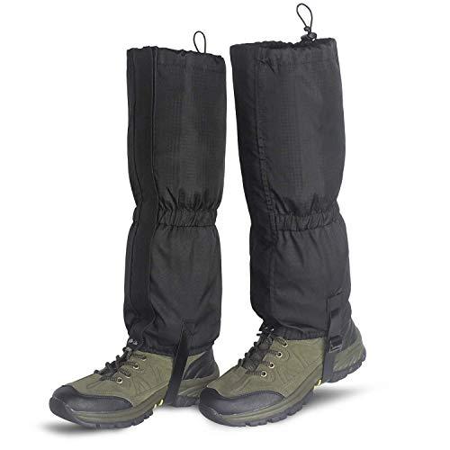 Unigear Outdoor Gamaschen, wasserdichte Einstellbare Gamaschen Atmungsaktive Beinschutz Gaiter für Outdoor-Hosen zum Wandern, Klettern,Trekking, Schneewandern und Jagd 1 Paar MEHRWEG (S-schwarz)