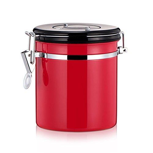 mylifeunit Boîte à café, boîte de rangement boîte à café en acier inoxydable, 4 couleurs rouge