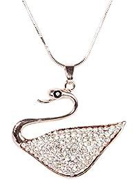 6df23ba22 Indian Petals Designer Style Diamond Rhinestone Swarovski studded Duck Design  Fashion Jewellery Pendant with long Chain
