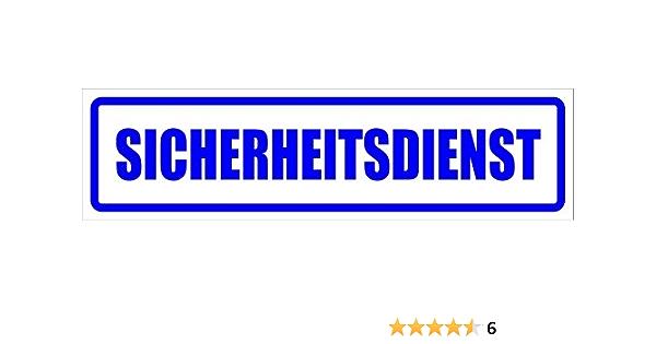 Kiwistar Magnetschild Sicherheitsdienst 30x8cm Für Kfz Und Sonstige Metalloberflächen Auto