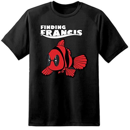 Digital Pharaoh Herren schwarz Finding Francis Deadpool lustig Nemo Style Disney T-Shirt - Schwarz, ()