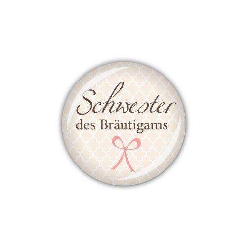 "Button ""Schwester des Bräutigams"""