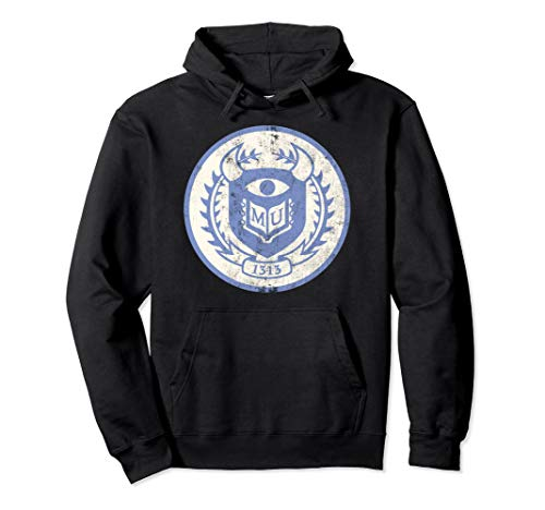 Monsters University Sulley Hoodie - Disney Pixar Monsters University Distressed Crest