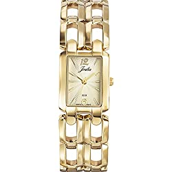 Joalia Women's Analogue Watch with Gold Dial Analogue Display and Metal - 631928
