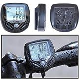 Equipo de ciclismo Velocímetro multifuncional inalámbrico para bicicletas, función, LCD, 14 funciones, negro, odómetro de computadora de bicicleta, Tamaño: 45 x 45 x 20 mm Seguro y practico