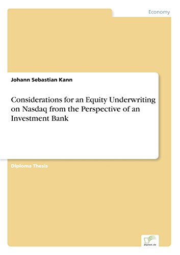 considerations-for-an-equity-underwriting-on-nasdaq-from-the-perspective-of-an-investment-bank