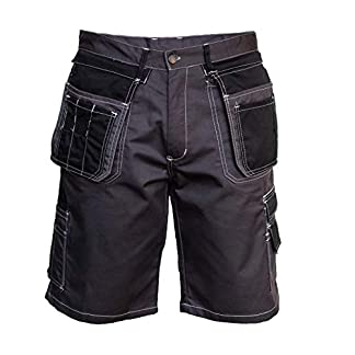 Sólido Pantalones Cortos de Trabajo para Hombres, Elementos Reflectantes, Pantalones de Trabajo, Profesional, Duradero, Pantalones de jardín