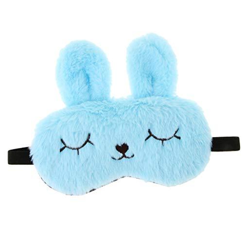 Erwachsenen Bunny Niedlich Kostüm Für - Baoblaze Kinder Erwachsene Plüsch Bunny Rabbit Schlafmaske Eye Shade Cover Blindfold - Blau